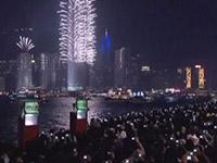 香港のニューイヤーの花火