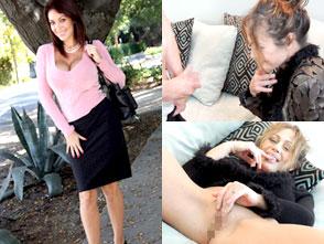 ガチナンパ!セレブで有名なビバリーヒルズの奥様方にセンズリを見せ付けたら・・・セックスできるだろうか?