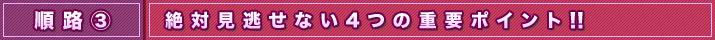 順路3 絶対見逃せない4つの重要ポイント!|薔薇之恋〜薔薇のために〜
