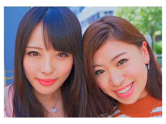 渋谷女子2人組が立ちバックでイキまくり乱交