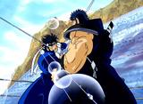 魁!!男塾 第11話 巌流島に死剣舞う!対決!桃VS赤石