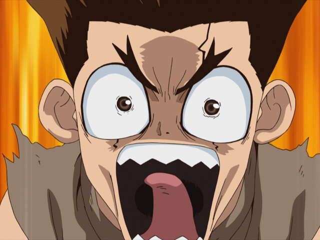 Dr.STONE 第2話 KING OF THE STONE WORLD
