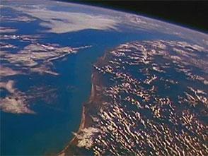 宇宙から見た地球 ヨーロッパ・アジア・オセアニア