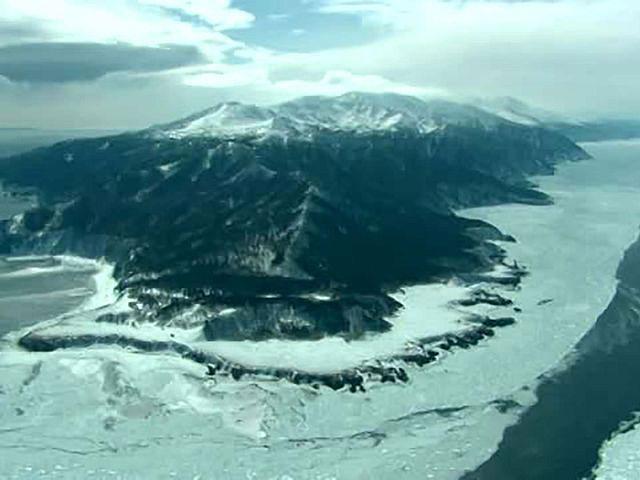 北海道「空撮百景」 空から見る風景遺産 Part5【冬の北海道】 冬の知床