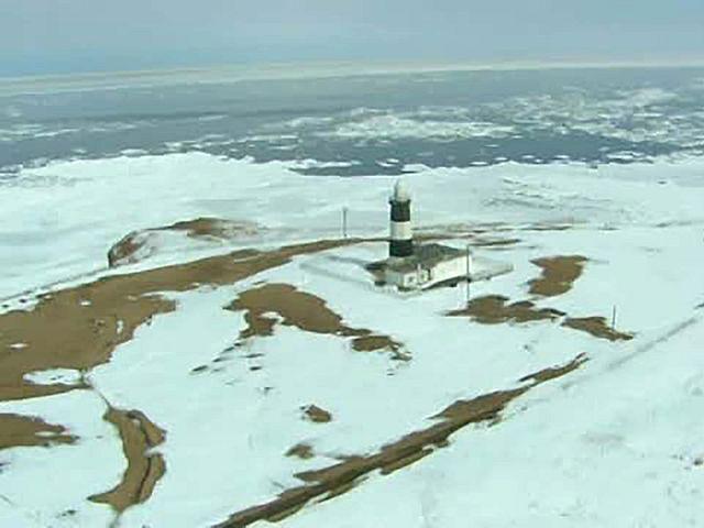 北海道「空撮百景」 空から見る風景遺産 Part5【冬の北海道】 冬の網走