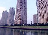 東京リバークルーズ 大川端リバーシティ21周辺