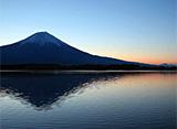 富士山百景 夜明け