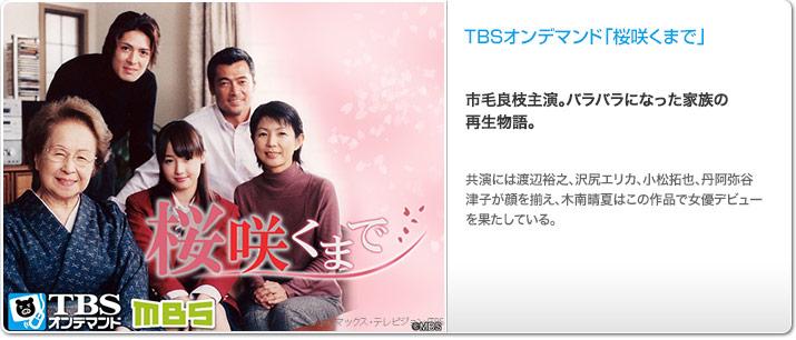 TBSオンデマンド「桜咲くまで」